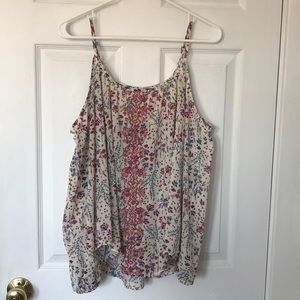 Cold shoulder women's blouse